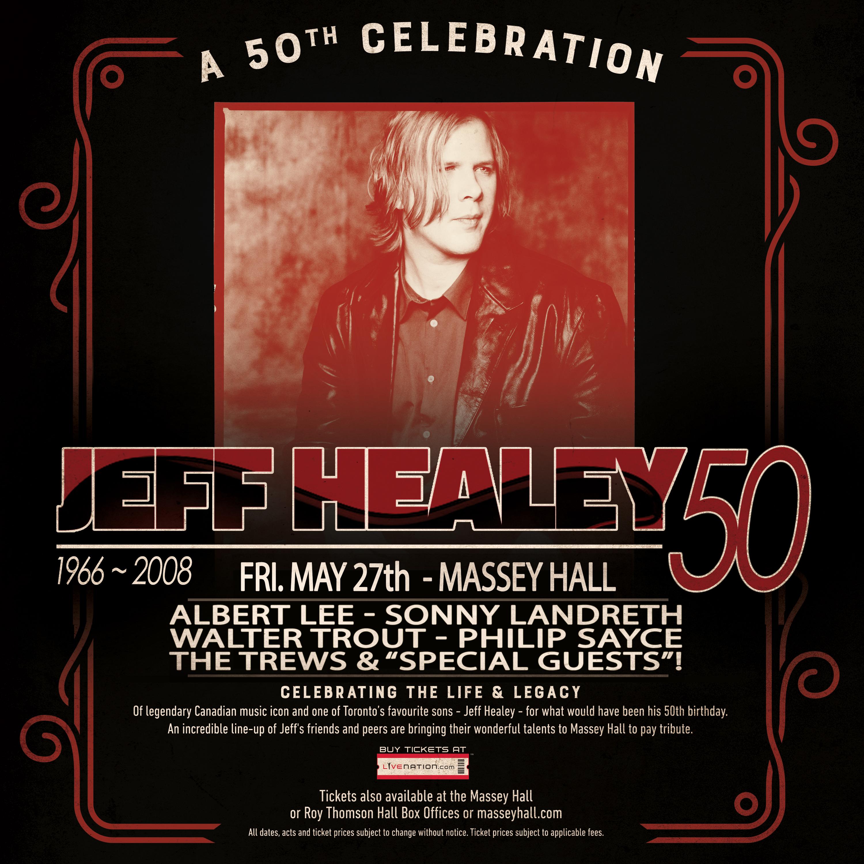 Jeff Healey - Massey Hall Show Graphic - Instagram
