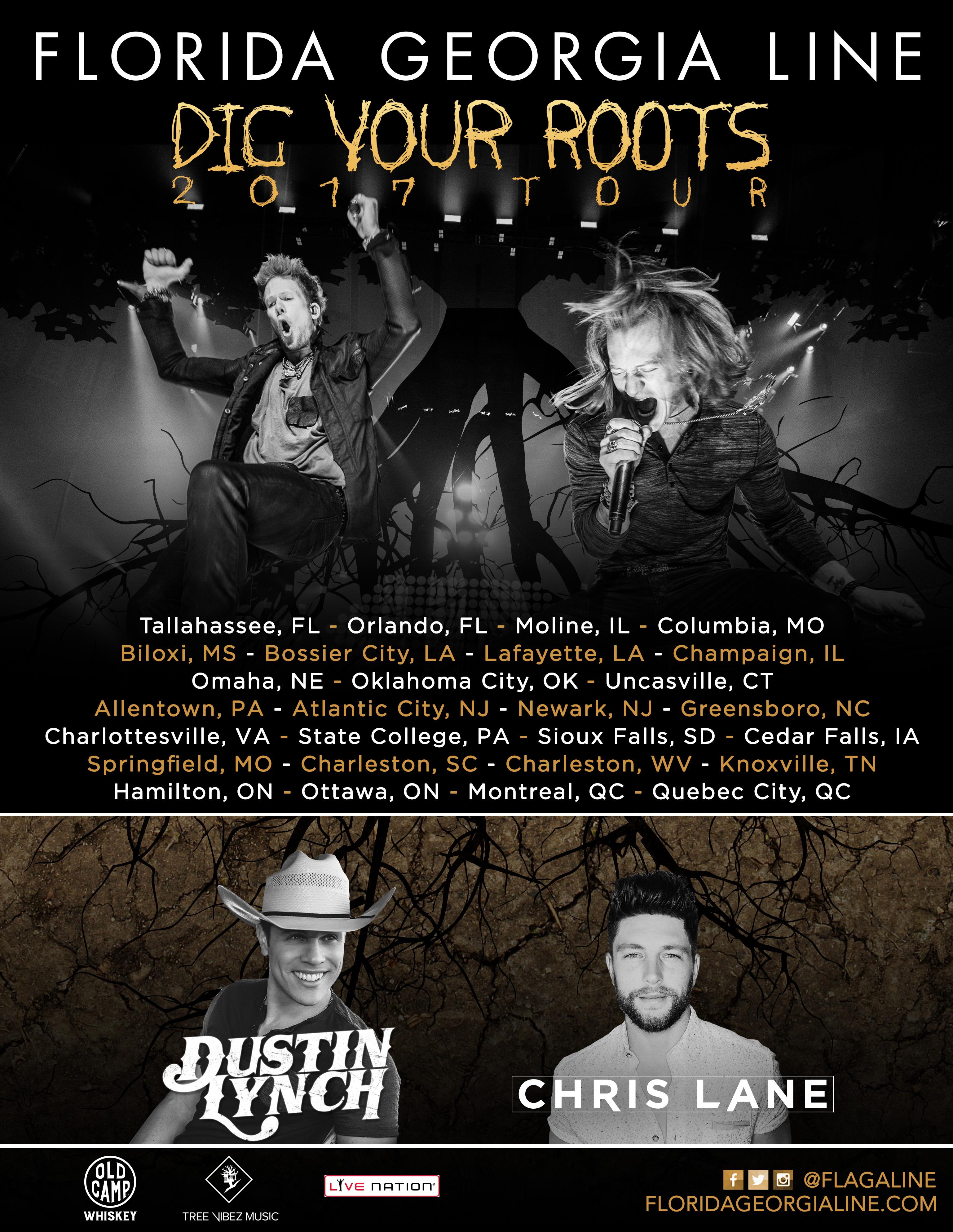 Florida Georgia Line Dig Your Roots Tour April